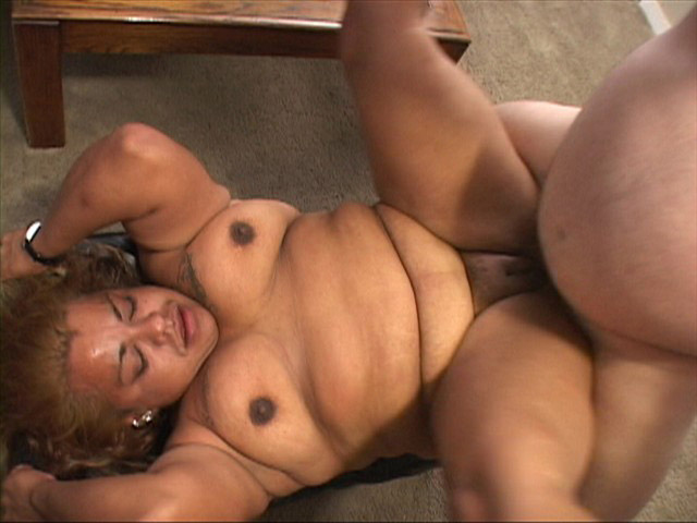 image Latina chubby chick fucks big white stud in first scene